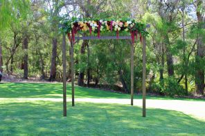 Wooden Four Post Arbor $200.00
