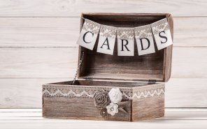 Rustic Treasure Chest & Card Bunting $55